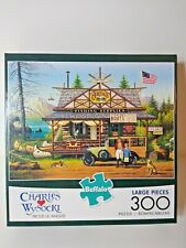 Charles Wysocki -300 Large Piece Jigsaw Puzzle - Proud Lil' Angler Complete