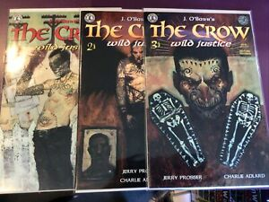 THE CROW WILD JUSTICE #1 2 3 / J O'BARR'S / HG KITCHEN SINK