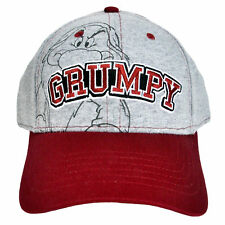 Disney Grumpy Men's Gray Baseball Cap Hat
