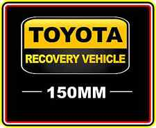 TOYOTA RECOVERY VEHICLE STICKER DECAL 4WD OFF ROAD TRUCK FUNNY BUMPER BNIP