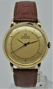 Omega solid 18K gold bumper automatic gents watch 1944
