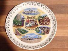 "Memphis Tennessee Vintage State Souvenir Plate - 7"" - Cotton Carnival, etc."