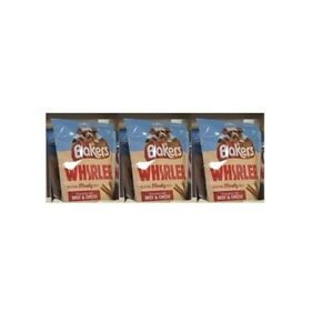 3 packs x Purina Bakers Whirlers delicius meaty treats with beef and cheese