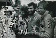 Arturo Merzario Firmato a Mano 12x8 PHOTO ALFA ROMEO le Mans.
