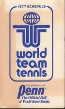 1977 World Team Tennis Schedule jhhp