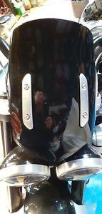 TRIUMPH ROCKET 3  R & GT PAINTED PHANTOM BLACK  SCREEN & BRACKET'S