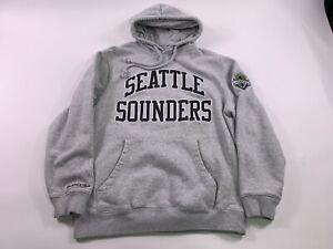Seattle Sounders MLS Mitchell & Ness Men's Heavy Hoodie Med/Lg Soccer Sweatshirt