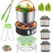 12 pieces Instant Pot Accessories Set Fits 6 qt 8 Quart Cooker W/Steamer Basket