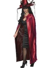 REVERSIBLE CAPE MENS LADIES RED AND BLACK DRACULA VAMPIRE FANCY DRESS CAPE