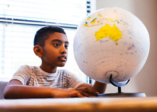 """Inflatable Desktop Globe Map with Stand Educational Toys Learning from Home 12"""""""