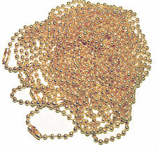 3 Pack 2.2mm Fine Ball Chain Necklace's 27 Inch Light Rose Gold Plated