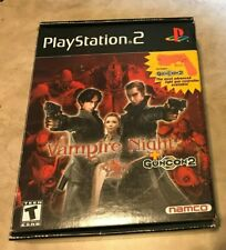 Vampire Night Complete GAME SEALED Gun Factory Bagged Playstation 2 NEW Guncon2