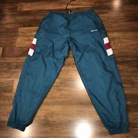 Vtg 80s 90s MICRON Colorblock WINDBREAKER Track Suit NYLON jogging Pants Mens XL