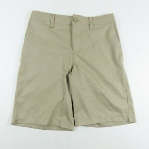 Under Armour Boys Shorts Size 12 Match Play 2.0 Beige Flat Front Casual Short