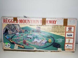 Life Like Rugged Mountain Railway Train Set Complete Unused Set Vintage