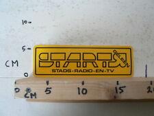 STICKER,DECAL STADS RADIO EN TV GELEEN START ? A