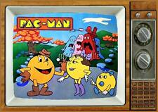 "PAC-LAND PAC-MAN TV Fridge MAGNET  2"" x 3"" art SATURDAY MORNING CARTOONS PACMAN"