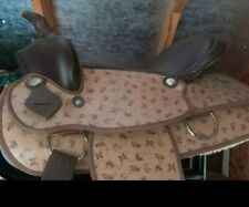 "Synthetic  Western Saddle 16"" butterfly  print"