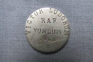 Small Medal / Medallion -- RAF Yundum -- Victor Ludorum -- 1946 -- Military