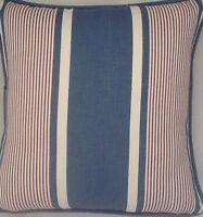 A 16 Inch cushion cover in Laura Ashley Tiverton Denim fabric