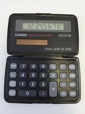 Casio Solar Calculator Dual Leaf Sl-200 Black Solar Powered Fold & Close- Works