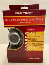 Pro Form TX-100 Heart Rate Monitor Watch ECG Accurate with Date & Time New
