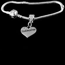 Godmother bracelet godmother charm bracelet European style Best Jewelry gift