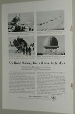 1955 BELL TELEPHONE advertisement, DEW Line, Arctic radar