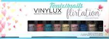 NEW CND Vinylux Pinkies FLIRTATION 9-pc Mini Set~8 Nail Polish Colors + Top Coat