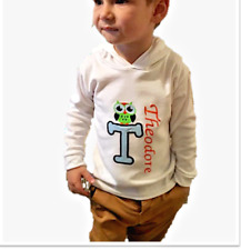 Personalised Baby,Kids Boy,Girl Hoodie,Jumper,Top,Outfit,Owl Name Christmas Gift