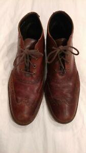 Cole Haan Liam Chukka Wingtip Lace-up Boots Dark Brown C11053 Men's Size 10