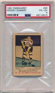 1951 Parkhurst #28 WOODY DUMART PSA 4 Boston Bruins Hall of Famer