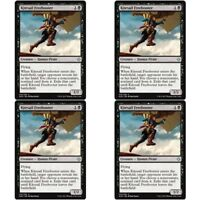 4 x KITESAIL FREEBOOTER NM mtg Ixalan Black - Human Pirate Unc