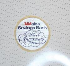Retro Sticker - Wales Savings Bank -  Silver Anniversary