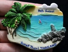 Koh Samui Surat Thani Thailand 3D Fridge Magnet Beach Sea Travel Memorial Resin