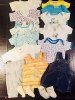 Babykleidung Paket 50 - 56 Junge, Bodies, Latzhosen, Sommer!