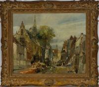 Fine American Early 20th Century Oil - Impressionist Street Scene
