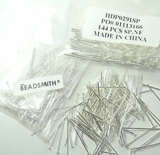 400 Head Pins .029dia X 1 Inch Silver Plated Standard 21 Gauge Wire