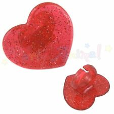 12 Saint-Valentin Cupcake Toppers-Rouge Paillettes Coeur Anneaux-Girly Party Cake Decor