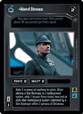Admiral Chiraneau [Near Mint] DEATH STAR II star wars ccg swccg