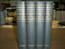 Abraham Lincoln The War Years Complete Book Set of 4 Carl Sandburg Civil War HC