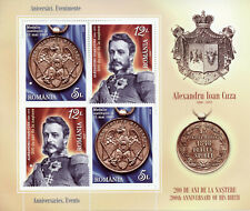 More details for romania people stamps 2020 mnh alexandru ioan cuza military medals 4v m/s b