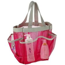 Portable Toiletry Mesh Bag Quick Dry Shower Tote Bag Hanging Bathrooms Organizer