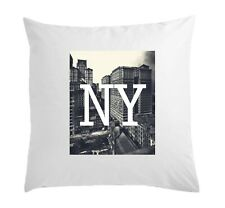 NY New York Skyscrapers Styled Art White Pillow Case Cushion Cover 40 cm