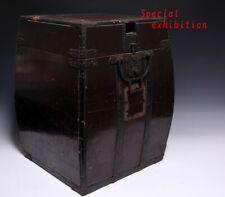 Japan Antique Edo big Yoroi box kabuto case koshirae armor katana samurai Busho