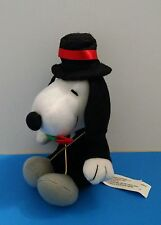 """Russell Stover Peanuts Snoopy Dog Red Rose in Mouth Valentines Love 7.25"""" Plush"""