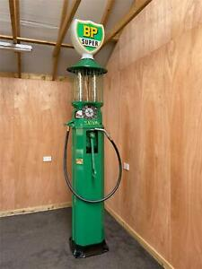 VINTAGE SATAM PETROL PUMP WITH BP LIVERY FULLY RESTORED