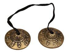 Small Tibetan Tingsha Cymbals Bell Om Mani Padme Hum