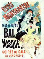 Theatre cultural masked ball montmartre paris vintage advertising poster 2132PY