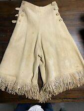 Authentic vintage traditional native hide leather riding skirt pants Old